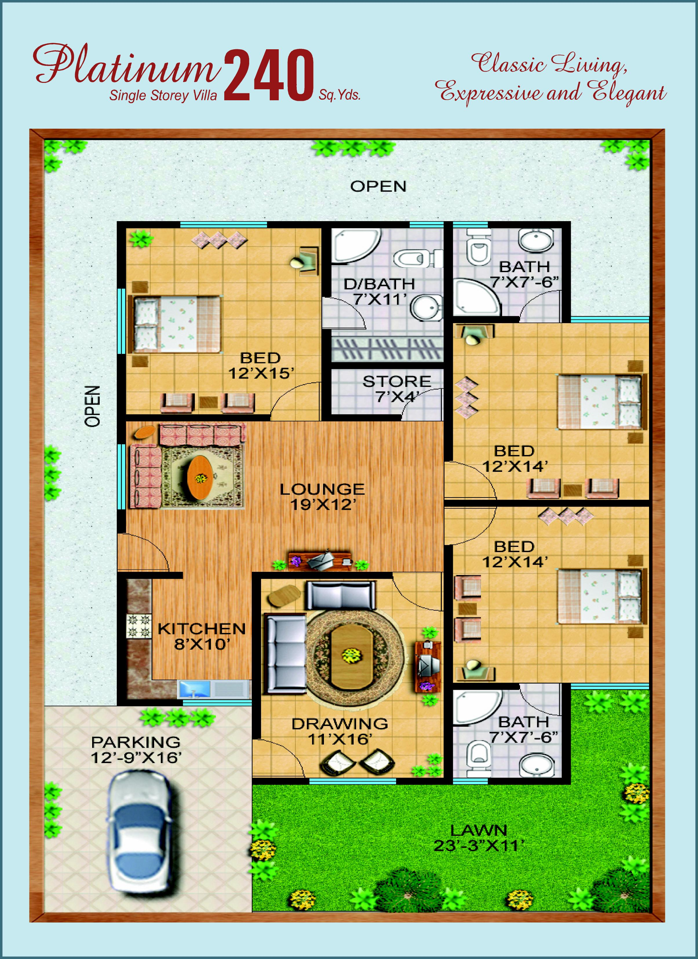 300 yards house plan 28 images 300 square yards house for 300 sq ft house plans in india