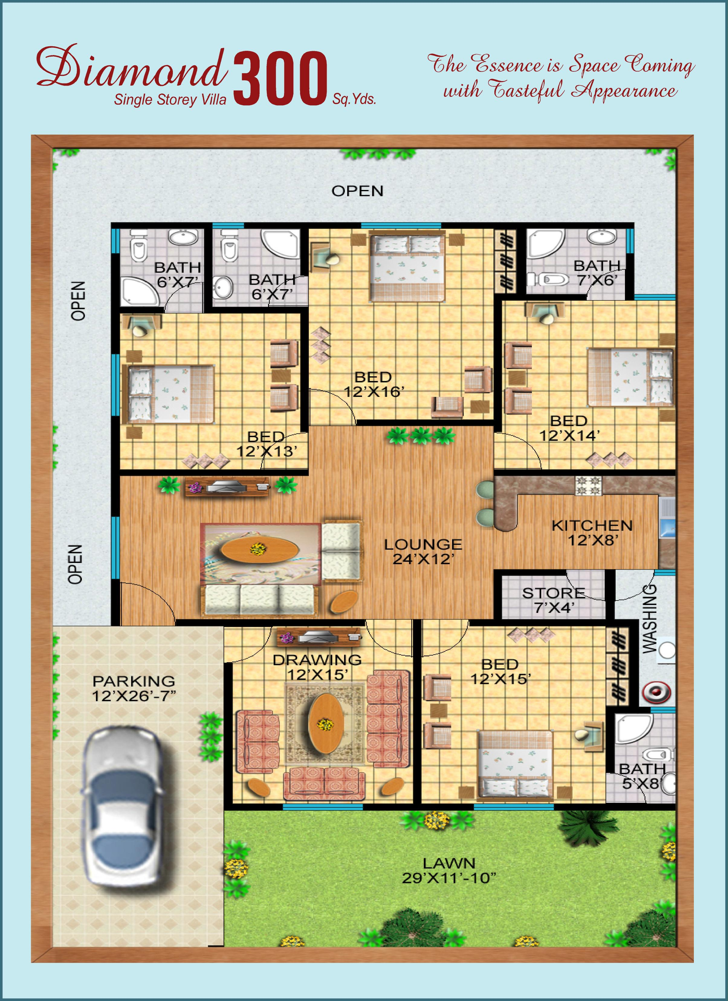 300 yards house plan 28 images charming 300 yards for 300 sq ft house plans in india
