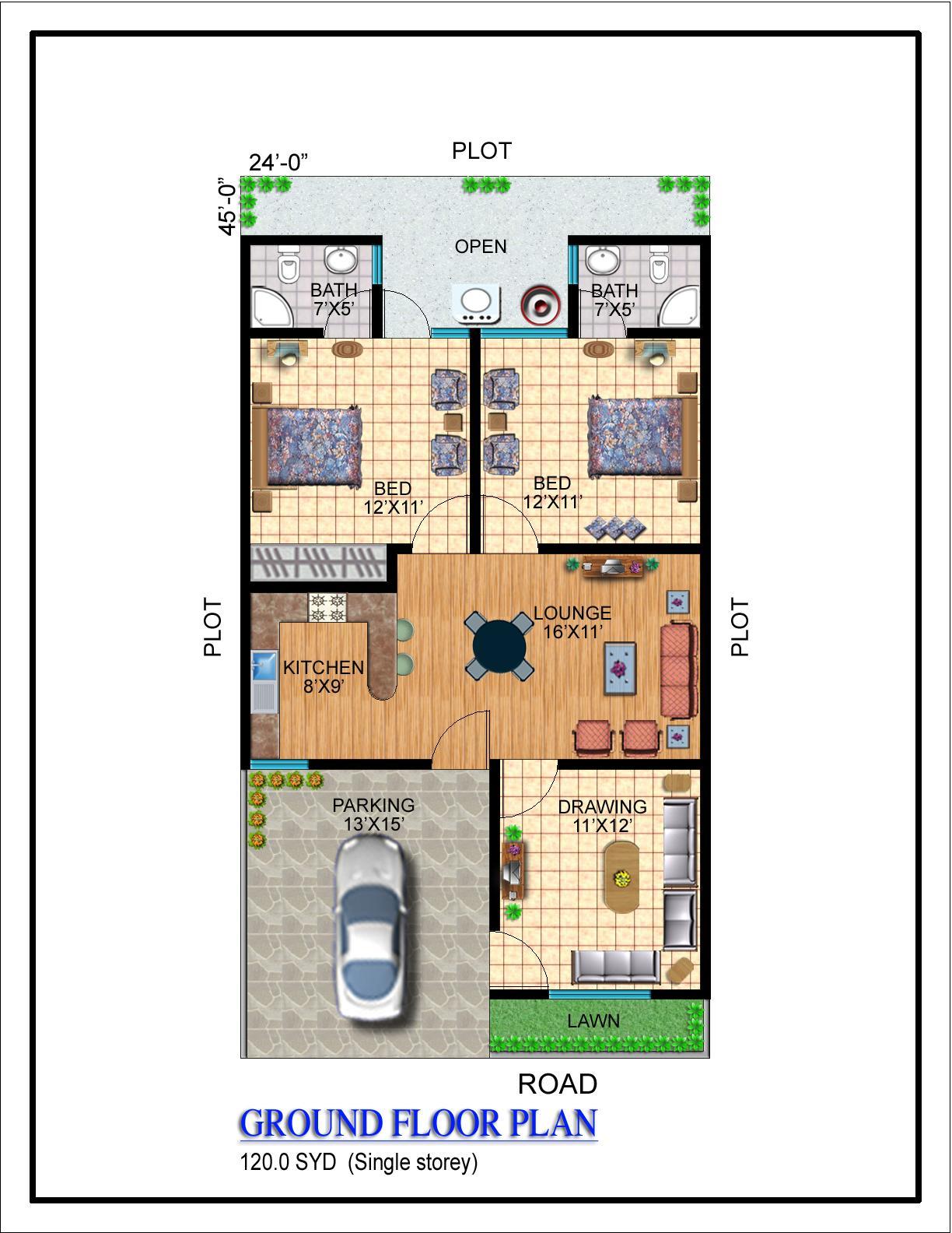 Our projects noman builders karachi pakistan for 120 square yards floor plan