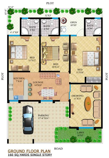 Single Floor Elevation U : Noman dream villas builders karachi pakistan